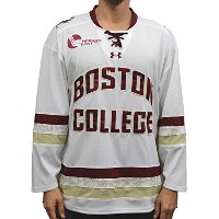Boston College Eagles Under Armour NCAAメンズレプリカHockey Jersey–ホワイト L