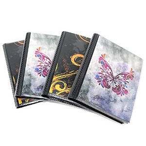 4 x 6 Photo Albums Pack of 4, Each Mini Photo Album Holds Up to 48 4x6 Photos with Black Background...