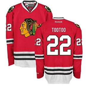 ジョーダンTootoo Chicago BlackhawksホームレッドPremier Jersey by Reebok 3L レッド