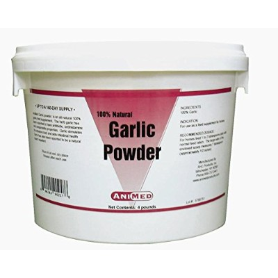 AniMed Garlic Powder Pure for Horses, 4-Pound by AniMed