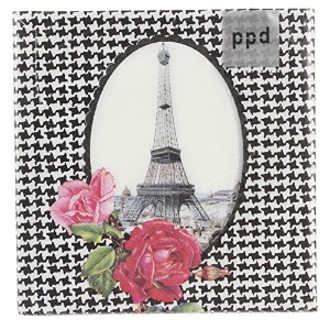 Paperproducts Design 7745 20-Pack Tour Parisienne Eiffel Tower Paper LUNCHEON Size Napkin, 6.5 by 6...