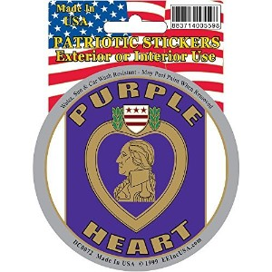 Purple Heart Logo Car Decal Purple Heart Car Sticker Military Patriotic Gifts