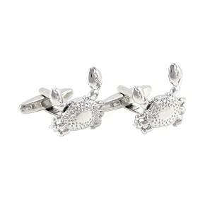 mendepotノベルティシルバートーンCrab with Movable Claws Cufflinks with Gift Box
