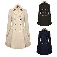 Fashion Spring Trench Coat Slim Fit Women Double Breasted Warm Dress Trench Coat for Women Windbreak