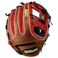 ウィルソン メンズ 野球 グローブ【A2K DTDUDE H-Web Fielder's Glove】Walnut/Black/Red