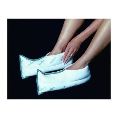 MediBeads Microwave Activated Moist Heat & Cold Therapy Foot Wraps (Pair) by Medibeads
