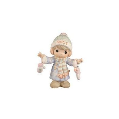 "2004 Precious Moments ""S""mitten With the Christmas Spirit Porcelain Figurine by Enesco [並行輸入品]"