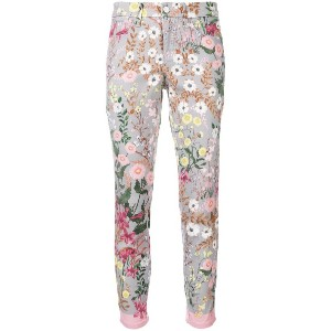 Cambio floral skinny jeans - グレー