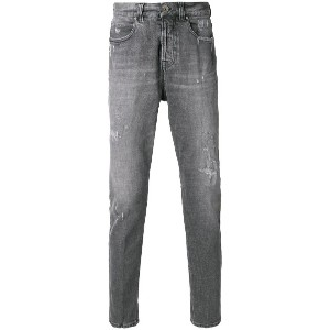 Eleventy faded slim fit jeans - グレー
