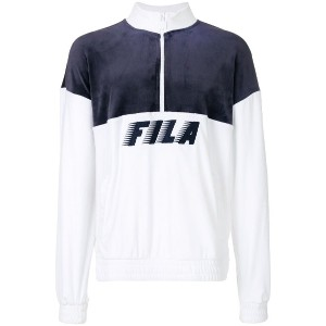 Fila Easton contrast panel zipped sweatshirt - ブルー