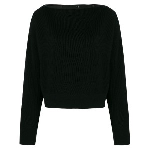 T By Alexander Wang ボートネックトップス - ブラック