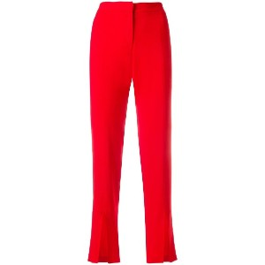 Federica Tosi cropped trousers - レッド