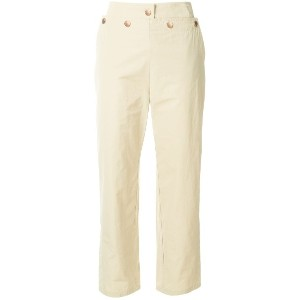 See By Chloé cropped sailor trousers - ヌード&ナチュラル
