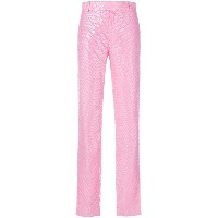 MSGM sequin embellished trousers - ピンク&パープル