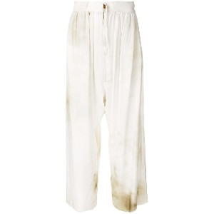 Vivienne Westwood Anglomania wide-leg flared trousers - ホワイト