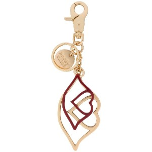 See By Chloé heart lips keyring - メタリック