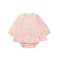 kate spade new york childrenswear/kate spade new york childrenswear  パールネックレスプリントドレス(8581503) ピーチ ...
