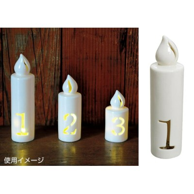 NUMBER LED LIGHT CANDLE 「1」