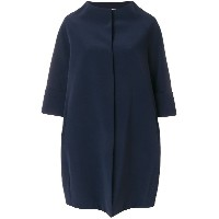 Gianluca Capannolo cropped sleeve collarless coat - ブルー