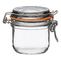 Le ParfaitスーパーTerrines – Wide Mouth FrenchガラスPreserving Jars – ゼロWaste Packaging 200ml - 7oz - Half...
