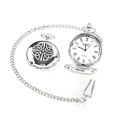 Irish CraftedヴィンテージスタイルTrinity Pocket Watch by Mullingar Pewter