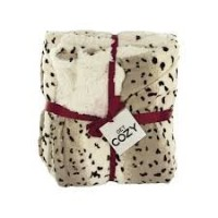 Snow Leopard Plush Fleece Throw Blanket