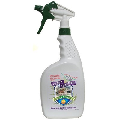 Mold and Mildew Remover - Cedar Bug-Free Mold and Mildew Eliminator. Natural Mold Killer - 32 oz by Cedar Bug-Free