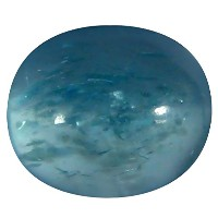 アパタイト ルーズジェームズ 1.55 ct AAA Oval Cabochon Shape (8 x 6 mm) Brazilian Paraiba Blue Apatite Gemstone