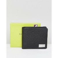テッドベーカー メンズ 財布 アクセサリー Ted Baker Bifold Wallet with Coin Pocket in Leather Black