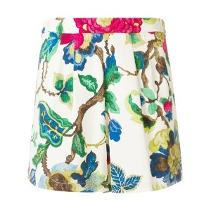 Semicouture floral-print shorts - ヌード&ナチュラル