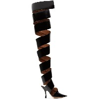 Y / Project Black Spiral 110 Patent Leather Boots - ブラック
