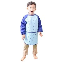 Plie Little Boys '防水アートSmock with sleeves M ブルー GIN01-09-M