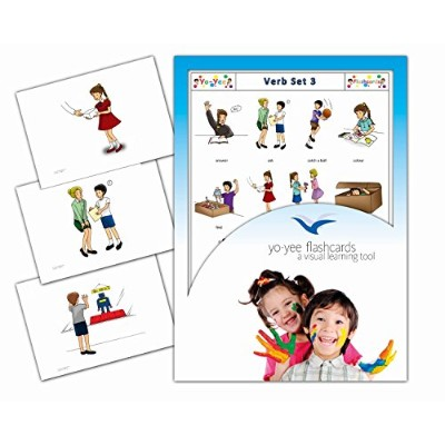 Action Words and Verbs Flash Cards in English - Set 3 - 英語フラッシュカード、絵カード、子供, 動詞, アクションワード