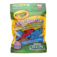 GUM® Crayola™ Kids' Flossers 40本入り キッズ・フロッサー