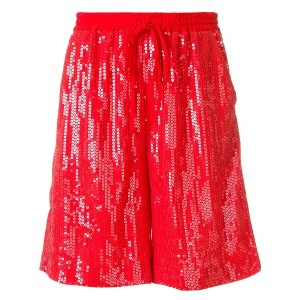 P.A.R.O.S.H. sequinned shorts - レッド