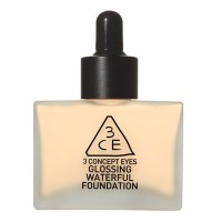 3 Concept Eyes - Glossing Waterful Foundation SPF15, PA+ NATURAL IVORY 【海外直送品】