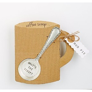 "Mud Pie ""What's The Scoop"" Coffee Scoop, Silver by Mud Pie [並行輸入品]"