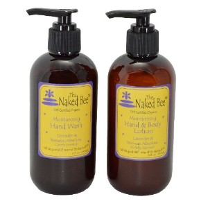 Naked Bee Lavender & Beeswax Absolute Moisturizing Hand Wash (8 oz) and Hand & Body Lotion (8 oz) ...