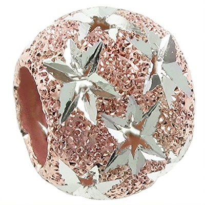 Queenberry Gold-tone Sterling Silver Twinkle Star European Style Bead Charm