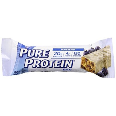 Pure Protein Greek Yogurt Nutrition Bar, Blueberry, 50g, 12 Bars by Pure Protein