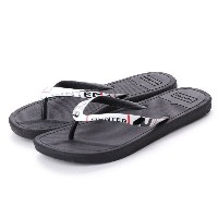 ハンター HUNTER M ORIG EXPLODED LOGO FLIP FLOP (BLK) メンズ