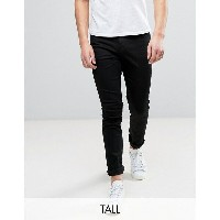 チープマンデー メンズ デニムパンツ ボトムス Cheap Monday TALL Jeans Tight Skinny Fit In New Black Black