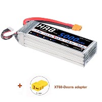 HRB Lipo Battery Pack 5000mAh 14.8V 50C 4s with XT60/Dean プラグfor RC車ボートトラックRoar承認