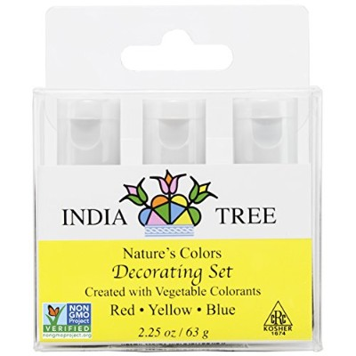 India Tree Natural Decorating Colors Set, 3-Count 2.25 ounces (Pack of 2) by India Tree
