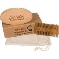 Brush And Beard Comb Kit Soft Boar Bristle Perfect For Use With Beard Oil Balm Wax And Pomade...