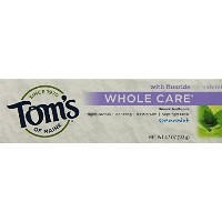 Tom's of Maine Whole Care Toothpaste with Flouride Flavor 4.7 Ounce Tube ((SPEARMINT) by Tom's of...