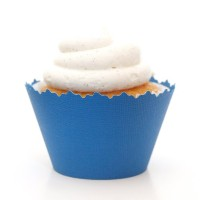Dark Lake Blue Cupcake Wrappers–セットof 12–ライナーWraps as Accents onカップケーキ、Treats、Sweets & Baked...