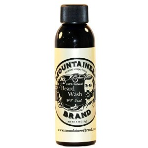 Beard Wash by Mountaineer Brand All-Natural beard shampoo - Cleans and Conditions 8 oz bottle (4...