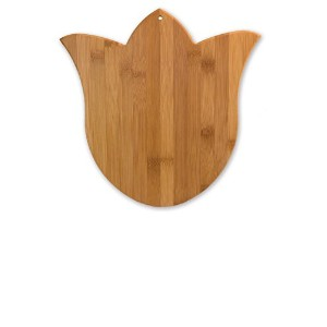 Totally Bambooチューリップ竹Cutting and Serving Board