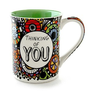 Enesco 4054459 Our Name Is Mud Thinking of You Cuppaマグ、4.5、マルチカラーby Enesco